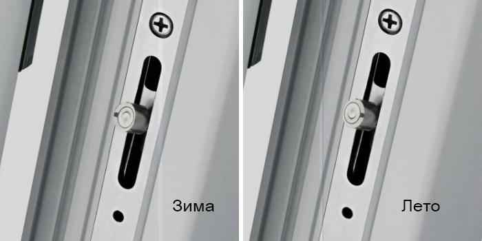 Настройка фурнитуры пластикового окна в зимний и летний режимы