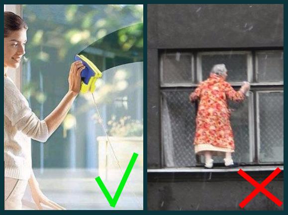 Как правильно мыть окна снаружи